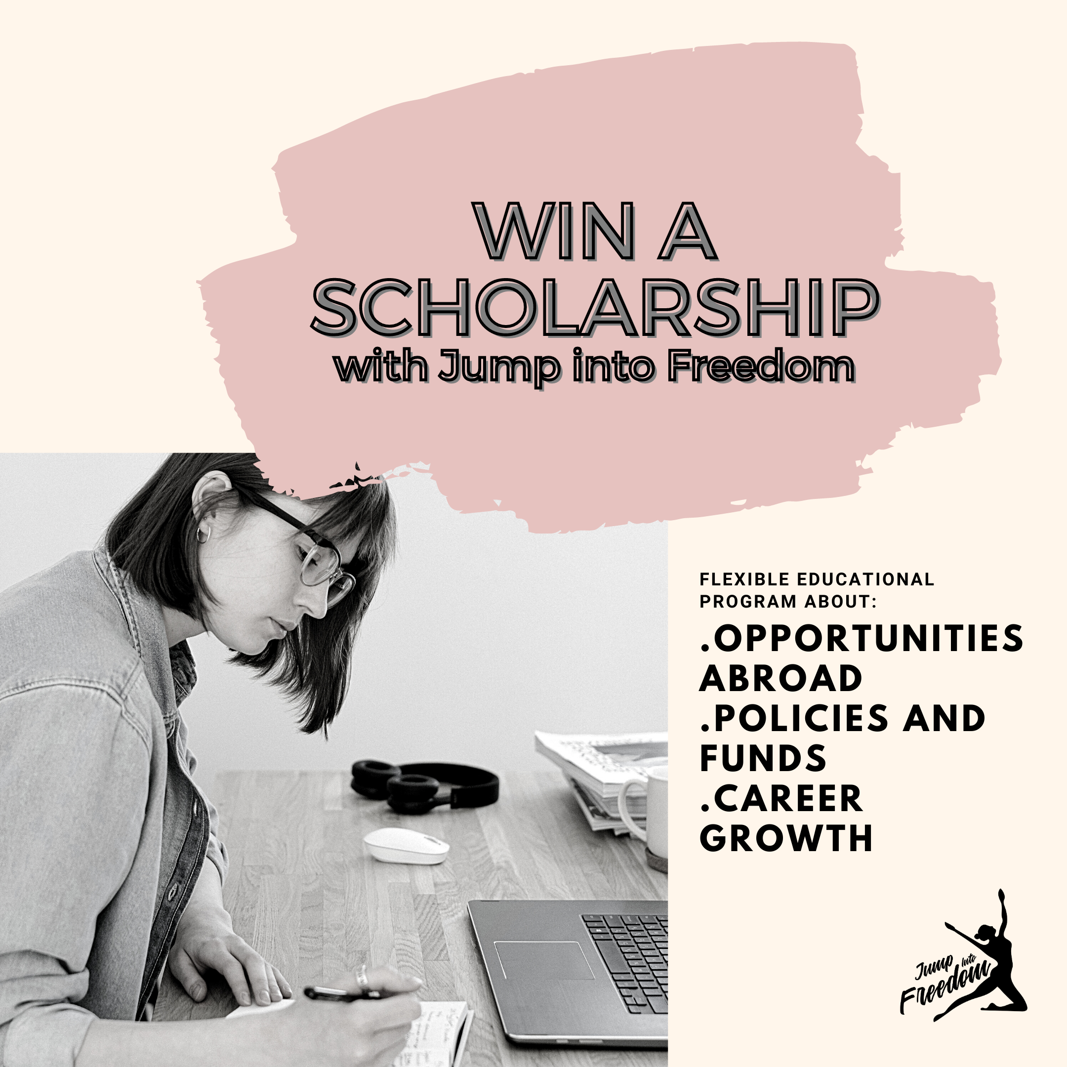 Win a virtual scholarship with Jump into Freedom